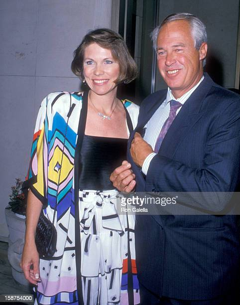 Actor Steve Kanaly and wife Brent Power attend the CBS Affiliates Party on June 14 1988 at Century Plaza Hotel in Los Angeles California