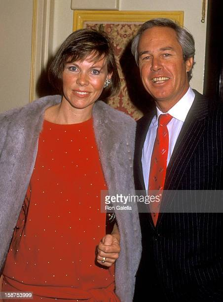 Actor Steve Kanaly and wife Brent Power attend the Dinner Tribute to Donald Bud Grant on December 13 1985 at Beverly Wilshire Hotel in Beverly Hills...