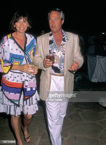Actor Steve Kanaly and wife Brent Power attend the Kauai Lagoons Celebrity Sports Invitational Awards Dinner Show and Auction to Benefit United...