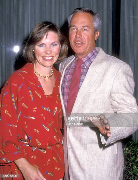 Actor Steve Kanaly and wife Brent Power attend the Party to Celebrate Victoria Principal's Book The Diet Principal on March 25 1987 at NeimanMarcus...