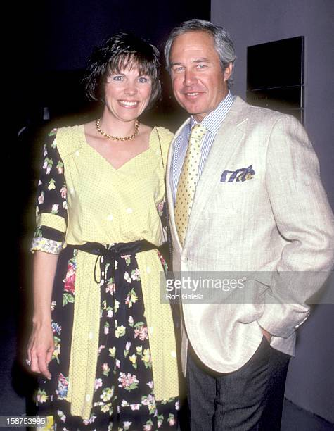 Actor Steve Kanaly and wife Brent Power attends the WrapUp Party for the Ninth Season of Dallas on April 16 1986 at 385 North Restaurant in Hollywood...
