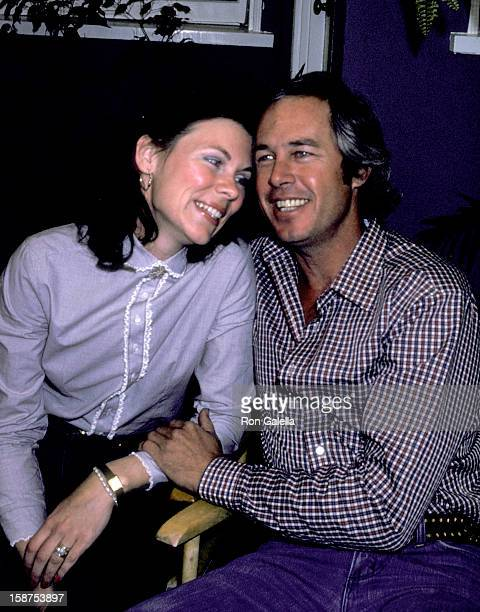 Actor Steve Kanaly and wife Brent Power on March 10 1980 pose for photographs at an exlusive photo session at Steve Kanaly's home in Los Angeles...