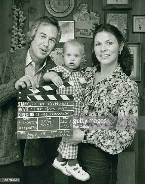 Actor Steve Kanaly wife Brent Power and daughter Quinn Kanaly attend exclusive photo session on March 10 1980 at Steve Kanaly's home in Los Angeles...