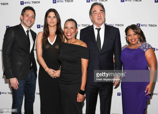 Actor Steve Kazee producer Liza Chasin NYU's Tisch School of The Arts Dean Mary Schmidt Campbell director Oliver Stone and actress Chandra Wilson...