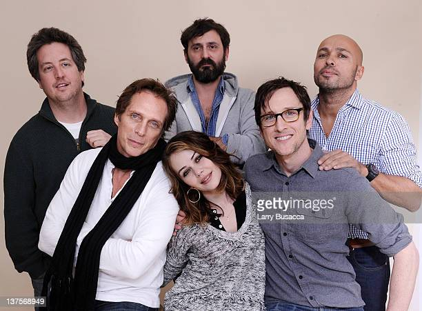 Actor Steve Little actor William Fichtner actress Alexis Dziena writer/director Quentin Dupieux actor Jack Plotnick and actor Eric Judor pose for a...