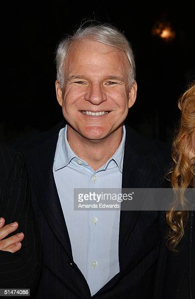 Actor Steve Martin arrives at a special screening of The Nutty Professor hosted by Jerry Lewis on October 12 2004 at the Paramount Theater in...