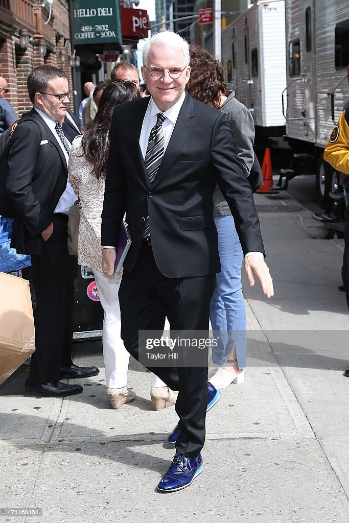 Actor Steve Martin arrives at 'Late Show with David Letterman' at Ed Sullivan Theater on May 20, 2015 in New York City.