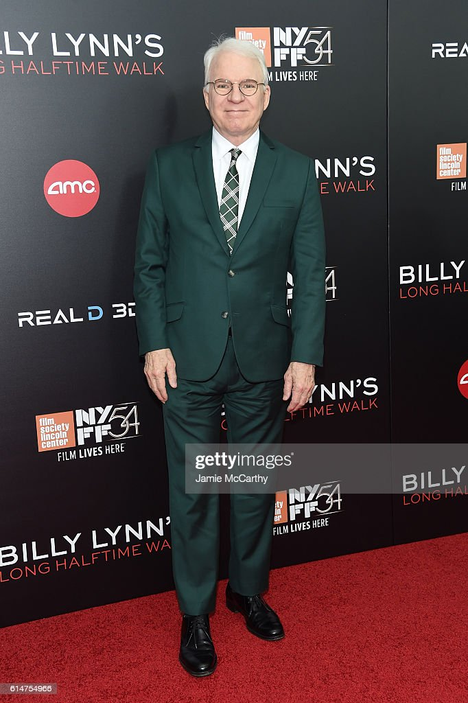 Actor Steve Martin attends 'Billy Lynn's Long Halftime Walk' during 54th New York Film Festival at AMC Lincoln Square Theater on October 14, 2016 in New York City.