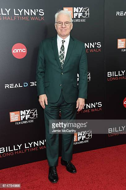 Actor Steve Martin attends Billy Lynn's Long Halftime Walk during 54th New York Film Festival at AMC Lincoln Square Theater on October 14 2016 in New...