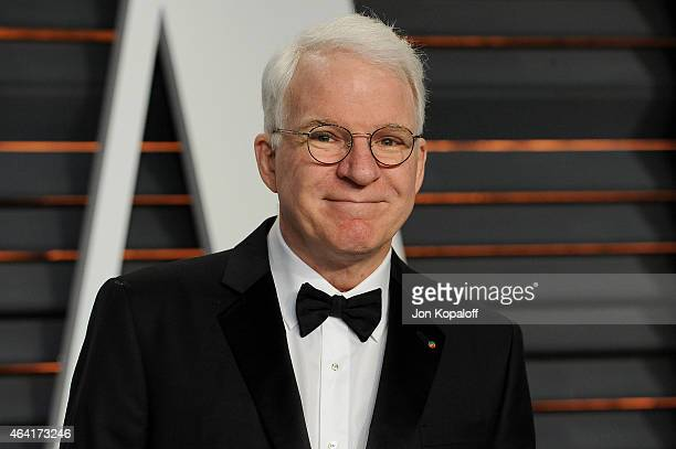 Actor Steve Martin attends the 2015 Vanity Fair Oscar Party hosted by Graydon Carter at Wallis Annenberg Center for the Performing Arts on February...