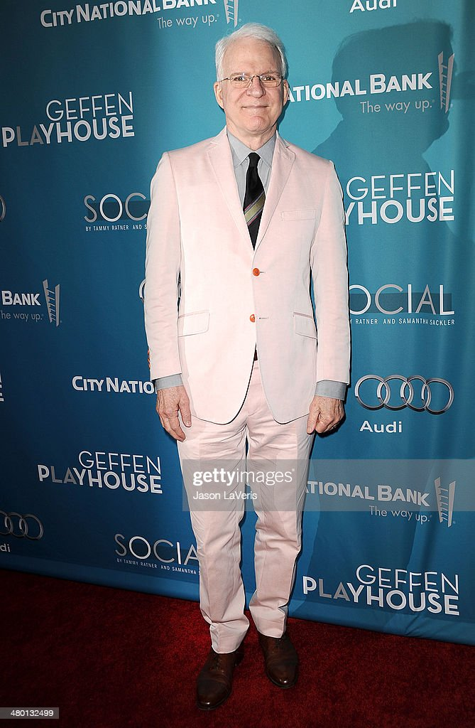 Actor Steve Martin attends the Backstage at the Geffen annual fundraiser at Geffen Playhouse on March 22, 2014 in Los Angeles, California.