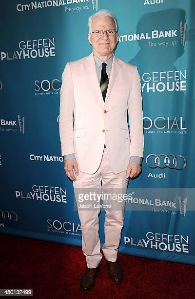 Actor Steve Martin attends the Backstage at the Geffen annual fundraiser at Geffen Playhouse on March 22 2014 in Los Angeles California