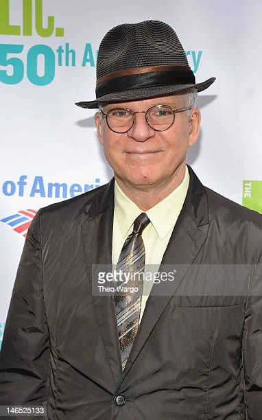 Actor Steve Martin attends the Public Theater 50th Anniversary Gala at Delacorte Theater on June 18, 2012 in New York City.
