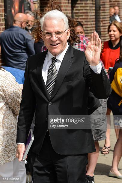 """Actor Steve Martin enters the """"Late Show With David Letterman"""" taping at Ed Sullivan Theater on May 20, 2015 in New York City."""