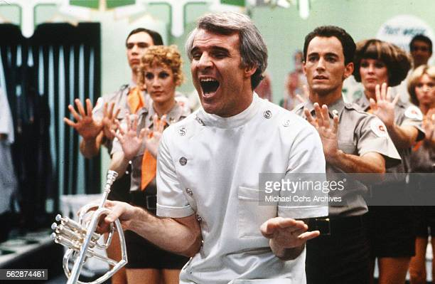 Actor Steve Martin performs on set in Los AngelesCalifornia