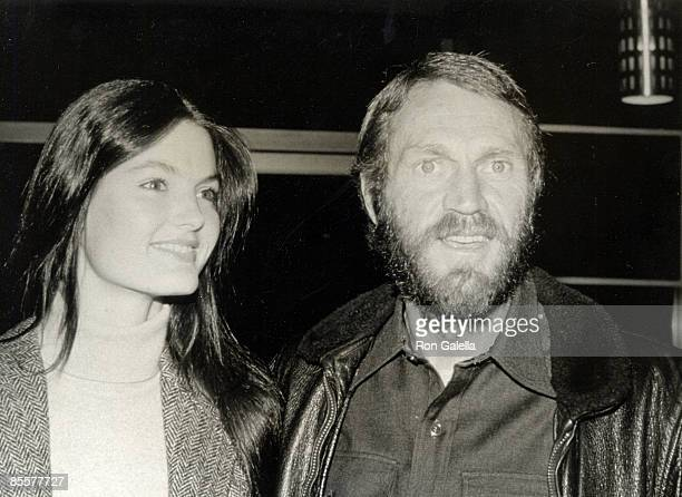 "Actor Steve McQueen and date Barbara Minty attending the premiere of ""Tom Horn"" on April 1, 1980 in Oxnard, California."