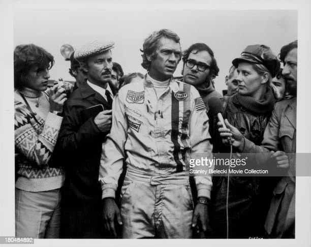 Actor Steve McQueen in a scene from the movie 'Le Mans' 1971
