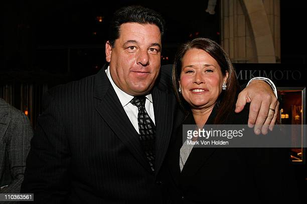 Actor Steve Schirripa and Actress Lorraine Bracco at The James Beard Foundation's The Truffle Towns of Italy fundraising auction and gala November 08...