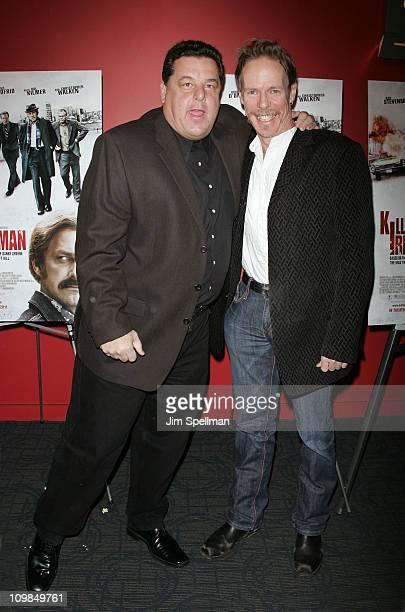 Actor Steve Schirripa and Director Jonathan Hensleigh attend the premiere of Kill the Irishman at Landmark's Sunshine Cinema on March 7 2011 in New...