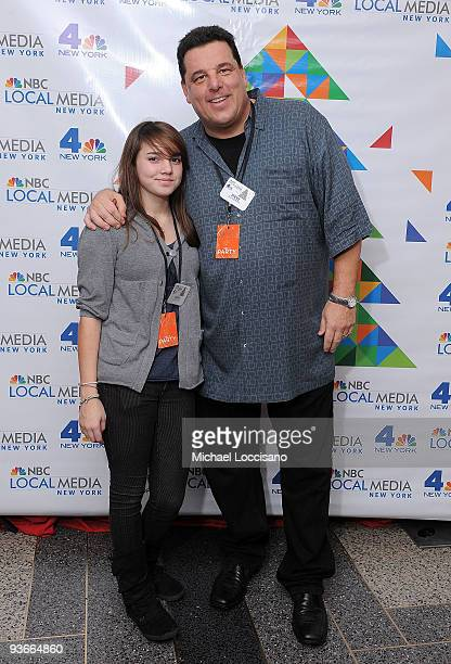 Actor Steve Schirripa and his daughter Ciara Schirripa attend WNBC's Rockefeller Center Tree Lighting celebration at Rock Center Cafe on December 2...