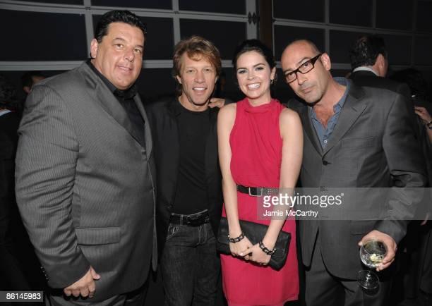 Actor Steve Schirripa musician Jon Bon Jovi Katie Lee Joel and actor John Ventimiglia attend the Food Bank For New York City's Sixth Annual CanDo...