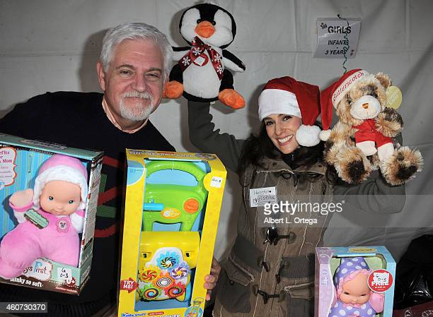 Actor Steve Tom and actress Christina DeRosa participate in The Heartfelt Foundation 35th Annual Christmas/Holiday Service Project held at Santa...