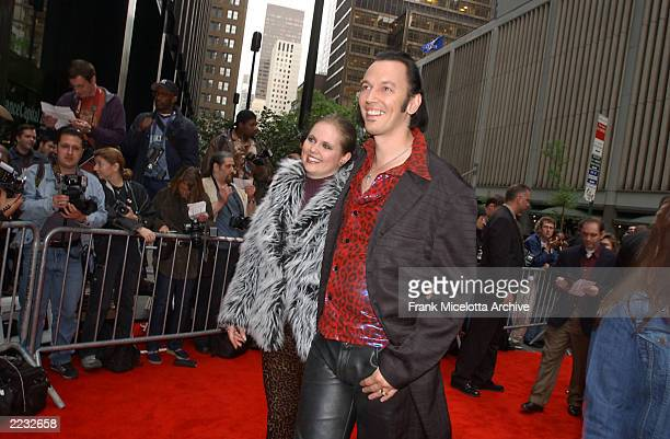 Actor Steve Valentine and his wife Shari during the arrivals for a special screening of Unfaithful at the Ziegfeld Theater in New York City May 6...