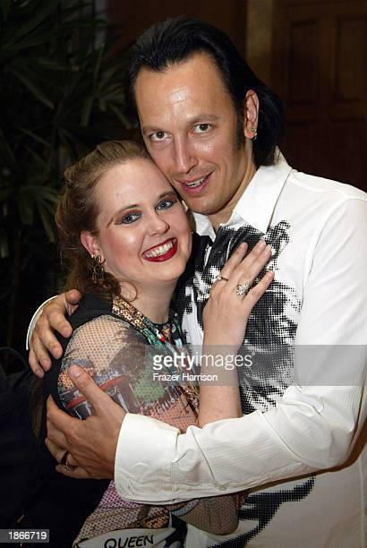 Actor Steve Valentine and Shari Valentine attend the Angeleno After Hours Party at the Remington Private Estate March 23 2003 in Westwood California