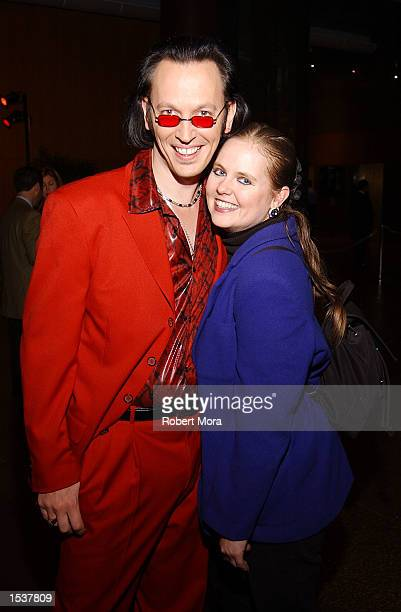 Actor Steve Valentine and wife Shari attend the world premiere screening of Showtime's Due East May 1 2002 in Los Angeles CA