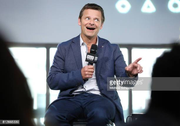 """Actor Steve Zahn discusses """"War For The Planet Of The Apes"""" at Build Studio on July 11, 2017 in New York City."""