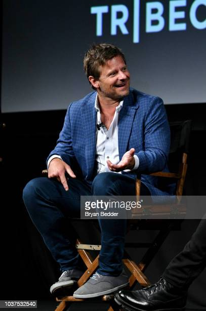 """Actor Steve Zahn speaks onstage during the premiere of National Geographic's """"Valley of The Boom"""" at Tribeca TV Festival on September 21, 2018 in New..."""