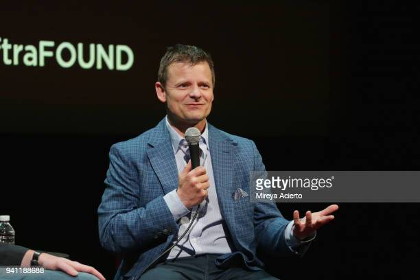 """Actor Steve Zahn visits SAG-AFTRA Foundation Conversations to discuss the television show, """"The Crossing"""" at The Robin Williams Center on April 2,..."""