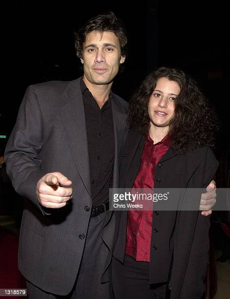 Actor Steven Bauer and Brea Pitts arrive at the premiere of USA Films'' Traffic December 14 2000 at the Academy of Motion Pictures Arts and Sciences...