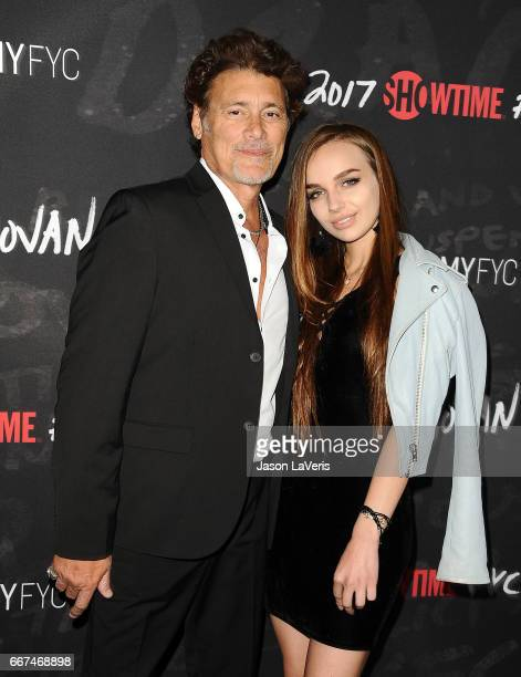 Actor Steven Bauer and Lyda Loudon attend Showtime's Ray Donovan season 4 FYC event at DGA Theater on April 11 2017 in Los Angeles California