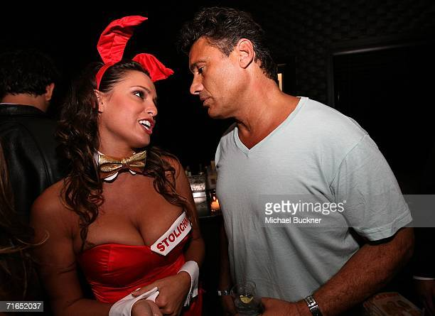 Actor Steven Bauer and playmate Lindsey Vuolo attend Playboy and Stoli's celebration of the September cover appearance and pictorial for The Girls...