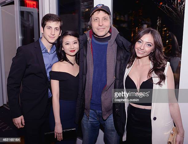 Actor Steven Kaplan actress Annie Q screenwriter/director Marc Lawrence and actress Emily Morden attend the after party for a special screening of...