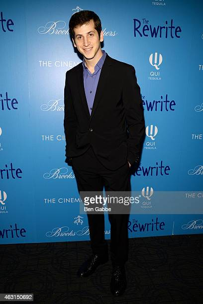 """Actor Steven Kaplan attends The Cinema Society and Brooks Brothers Host A Screening of """"The Rewrite"""" at Landmark Sunshine Cinema on February 10, 2015..."""