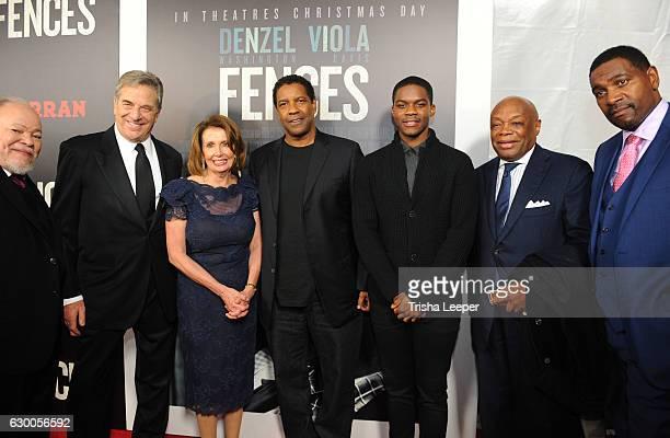 Actor Steven McKinley Henderson, Paul Pelos, Congresswoman Nancy Pelosi Actor Denzel Washington, Actor Jovan Adepo, SF Formor Mayor Willie Brown and...