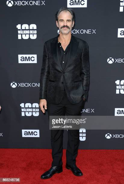 Actor Steven Ogg attends the 100th episode celebration off 'The Walking Dead' at The Greek Theatre on October 22 2017 in Los Angeles California