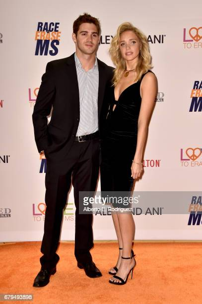 Actor Steven R McQueen and Model Allie Silva attend the 24th Annual Race To Erase MS Gala at The Beverly Hilton Hotel on May 5 2017 in Beverly Hills...