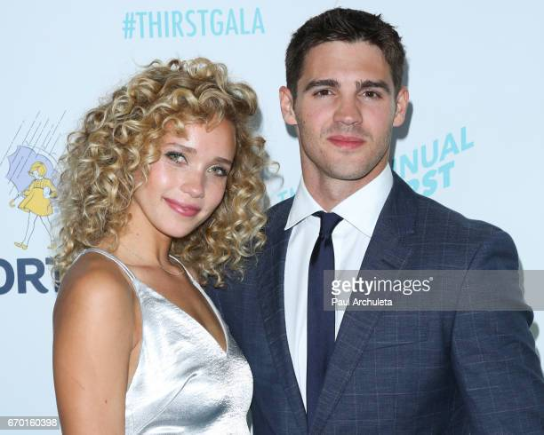 Actor Steven R McQueen and Model Allie Silva attend the 8th annual Thirst Gala at The Beverly Hilton Hotel on April 18 2017 in Beverly Hills...
