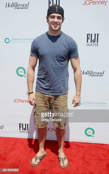 Actor Steven R McQueen arrives at the Ovarian Cancer Research Fund's Inaugural Super Saturday LA event at Barker Hangar on May 17 2014 in Santa...