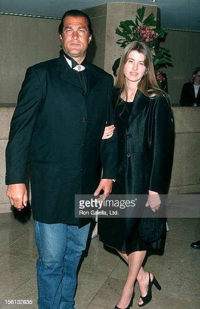 Actor Steven Seagal and Arissa Wolf attending 19th Annual St Jude Benefit Gala on March 4 1999 at the Beverly Hilton Hotel in Beverly Hills California