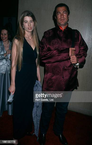 Actor Steven Seagal and Arissa Wolf attending 21st Annual St Jude Benefit Gala on March 1 2001 at the Beverly Hilton Hotel in Beverly Hills California