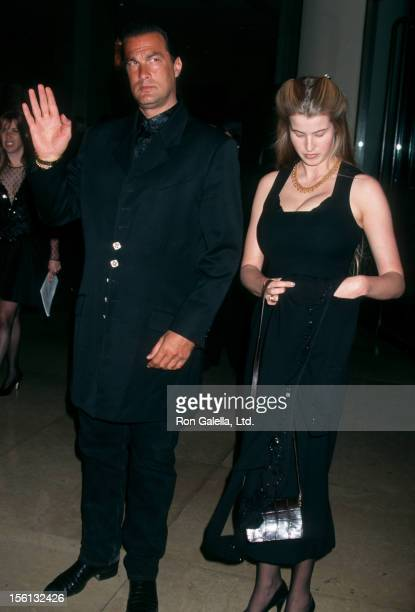 Actor Steven Seagal and Arissa Wolf attending 35th Anniversary for St Jude Children's Research Hopsital Gala on March 7 1997 at the Beverly Hilton...