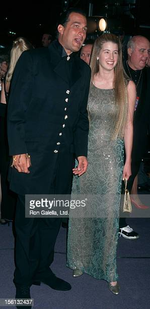 Actor Steven Seagal and Arissa Wolfe attending 'Happy Birthday Elizabeth A Celebration of Life' on February 16 1997 at the Pantages Theater in...