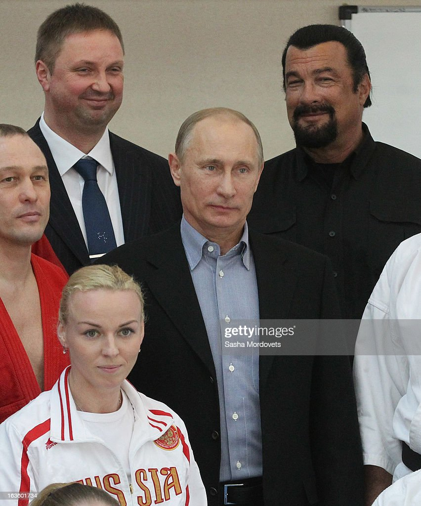 Actor Steven Seagal Visits Russia On The Invite Of Vladimir Putin : News Photo
