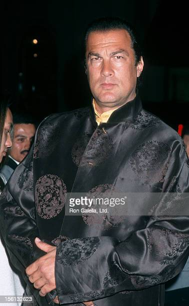 Actor Steven Seagal attending 'Celebrity Icons Rock Party Hosted by Hilfiger and Vanity Fair' on November 11 1999 at the Tommy Hilfiger Store in...