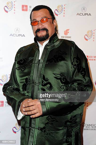 Actor Steven Seagal attends 2014 Chinese American Film Festival Opening Night Ceremony at Pasadena Civic Auditorium on November 4 2014 in Pasadena...