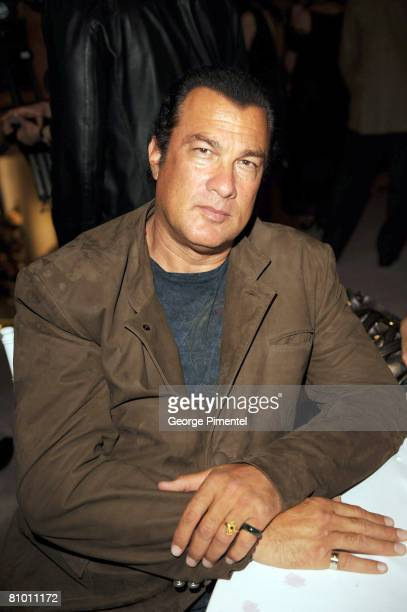 Actor Steven Seagal attends the Holt Renfrew Fashion Gala In Support Of Arts Umbrella on May 6 2008 at the Holt Renfrew in Vancouver BC